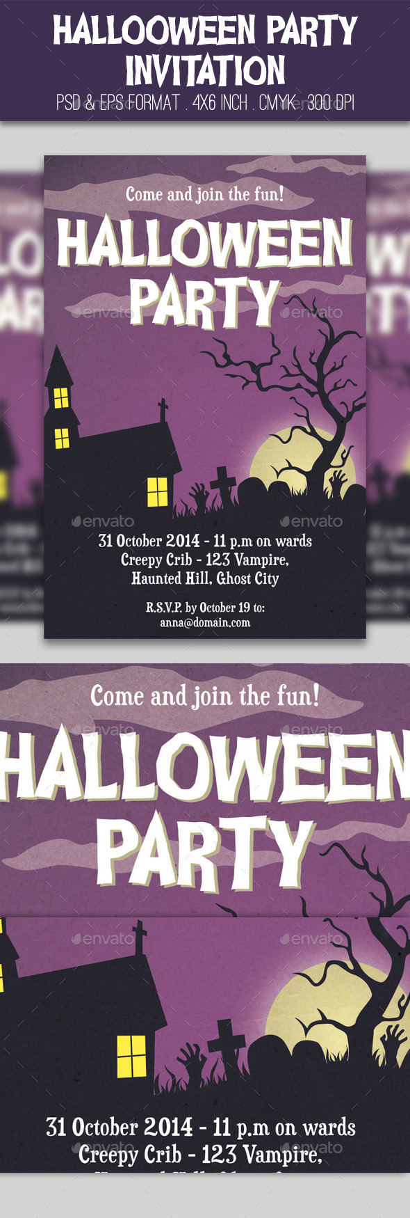 GraphicRiver Halloween Party Invitation 9044235