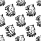 Stylized Black Eagle Seamless Pattern - GraphicRiver Item for Sale