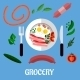 Breakfast with Groceries Flat Design - GraphicRiver Item for Sale