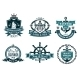 Blue Nautical and Sailing Themed Banners or Icons - GraphicRiver Item for Sale