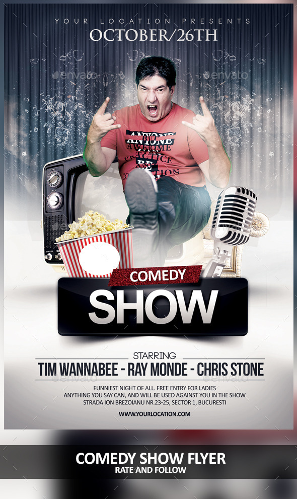 GraphicRiver Comedy Night Show 9007277