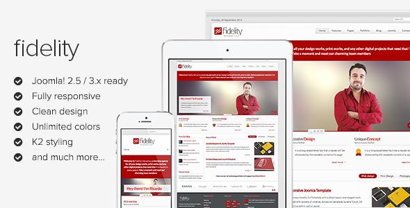 Fidelity - Clean Responsive Joomla Template - Screenshot 01 - Fidelity Responsive Joomla Template