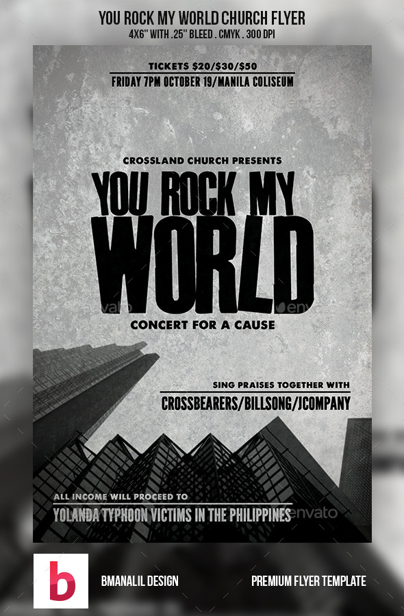 GraphicRiver You Rock My World Church Flyer 9052763