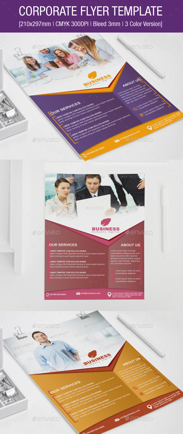 GraphicRiver Corporate Flyer Template 9052764