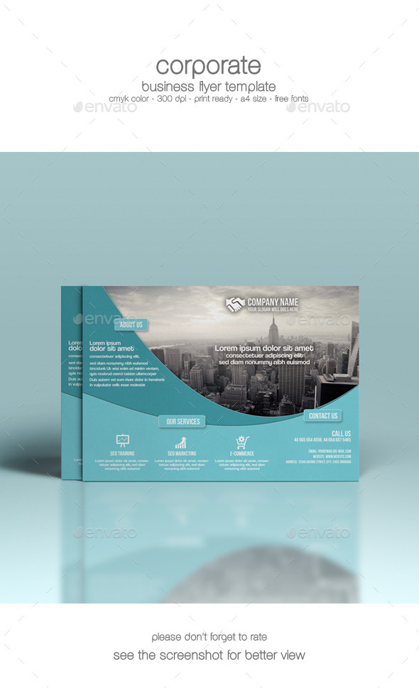 GraphicRiver Corporate Flyer Template 9052849
