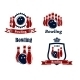 Sporting Bowling Emblems and Symbols - GraphicRiver Item for Sale