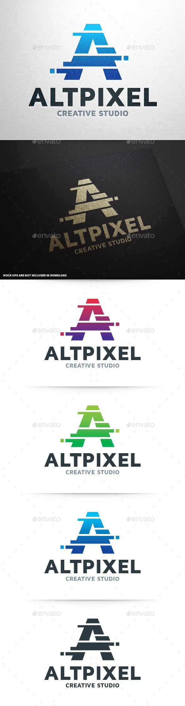 GraphicRiver Alt Pixel Letter A Logo 9052893