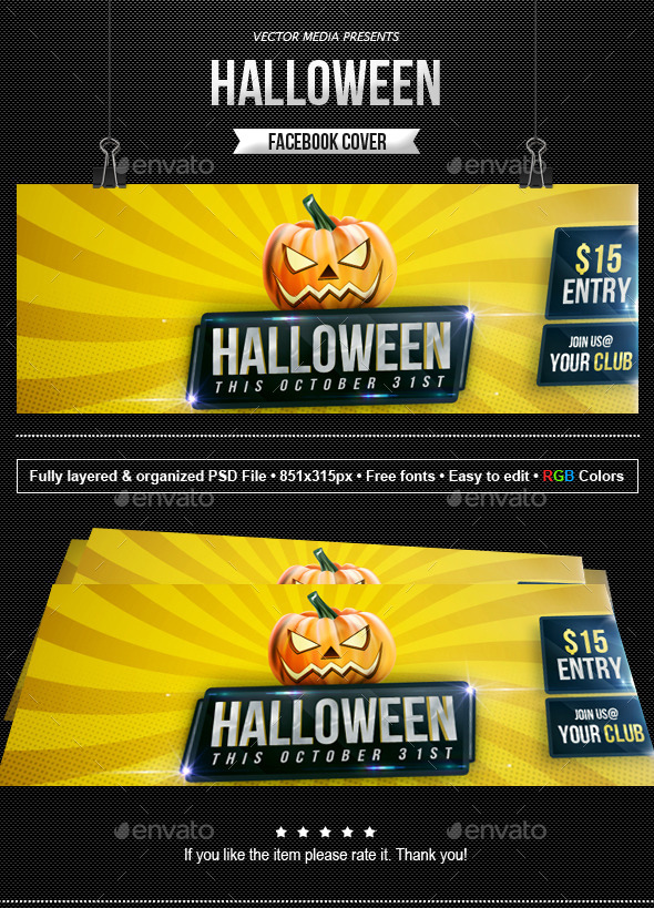 GraphicRiver Halloween Facebook Cover 9052959