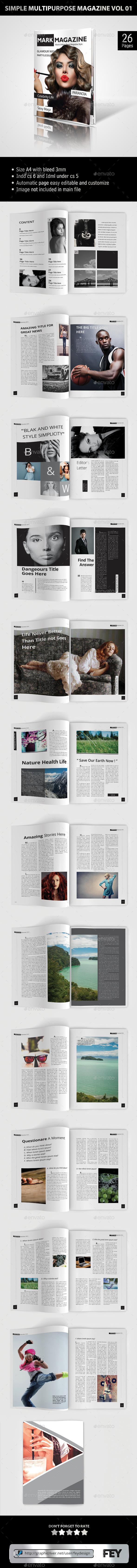 GraphicRiver Simple Multipurpose Magazine Vol.01 9002380