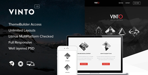 Vinto - Responsive Email + Themebuilder Access