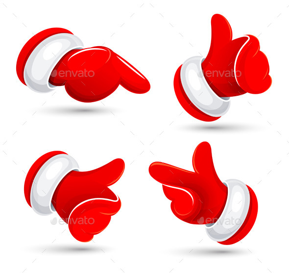 GraphicRiver Santa s Hands Vector Illustration 9053369