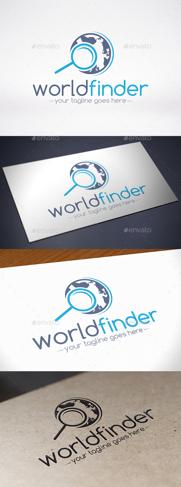 GraphicRiver World Locator Logo Template 9053445