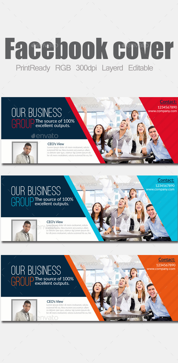 GraphicRiver Business Facebook Cover 9053449