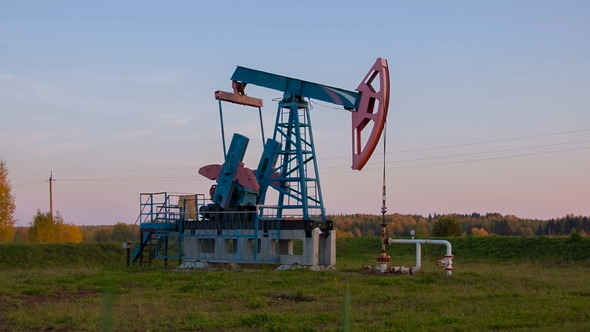 Oil Pump pumpjack in Russia