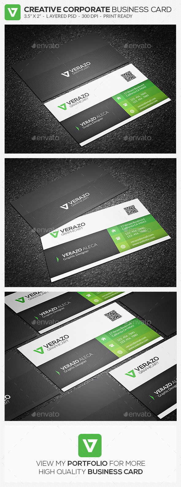 GraphicRiver Green Corporate Business Card 63 9053685