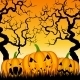 Three Pumpkins and Trees  - GraphicRiver Item for Sale