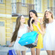 Three Girls On A Sunny Afternoon Walk - VideoHive Item for Sale
