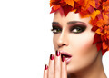 Autumn Makeup and Nail Art Trend. Beauty Fashion Girl - PhotoDune Item for Sale