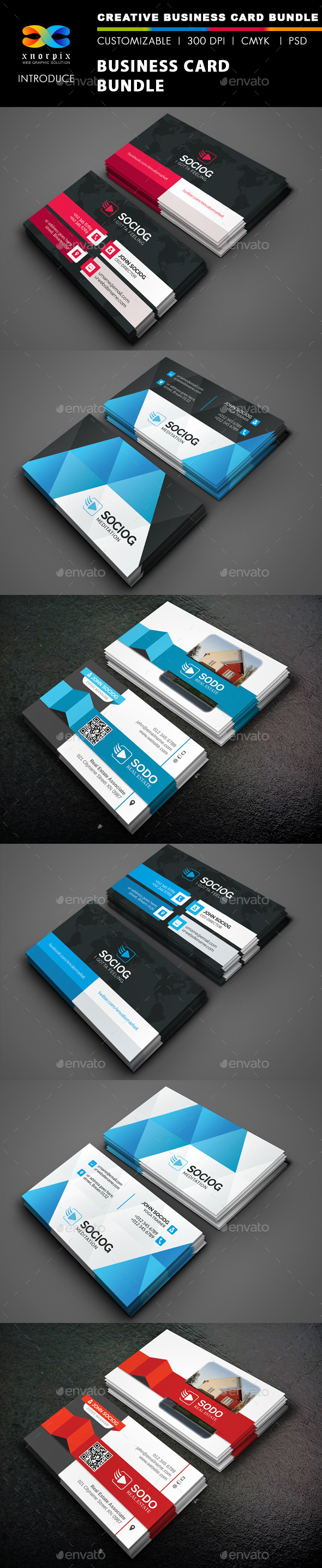 GraphicRiver Business Card Bundle 3 in 1-Vol 43 9053849