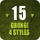 15 Grunge Backgrounds - 4 Styles - GraphicRiver Item for Sale