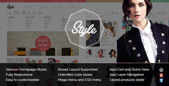 ThemeForest Responsive Multipurpose Magento Theme Style 9010581