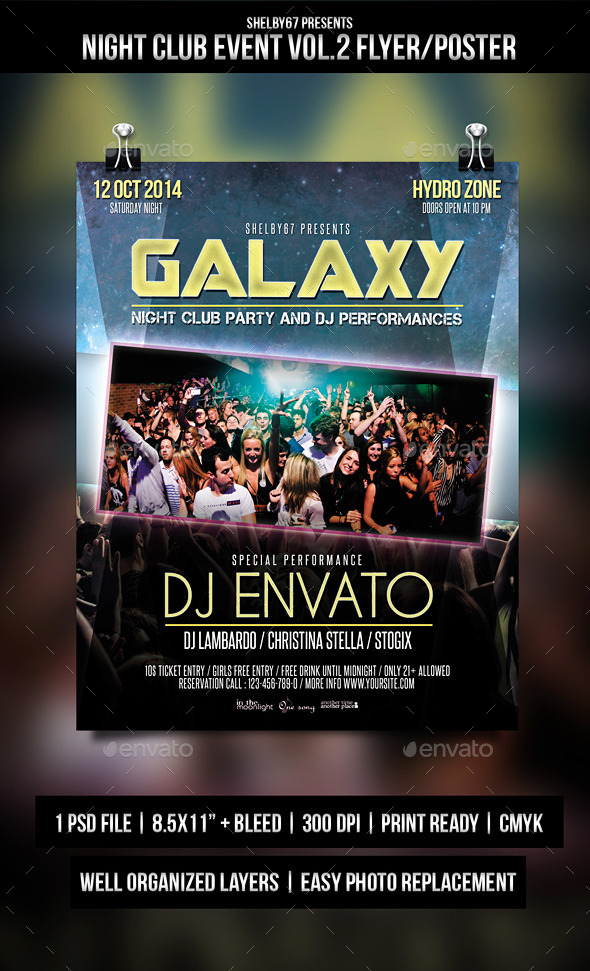 GraphicRiver Night Club Event Flyer Poster Vol.2 9054189