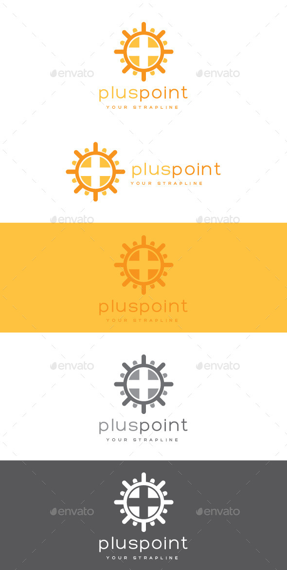 GraphicRiver Plus Point Logo 9054414