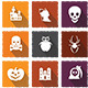 Halloween Social Media Icons Pack - GraphicRiver Item for Sale