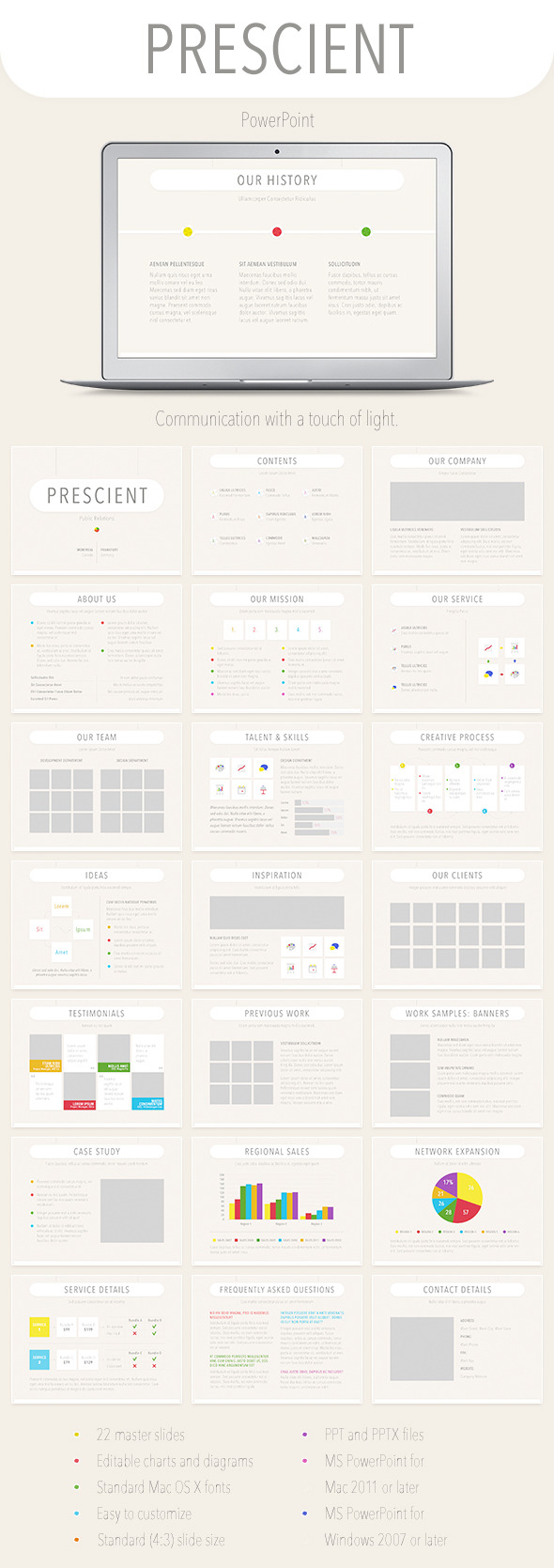 GraphicRiver Prescient PowerPoint Template 9054615