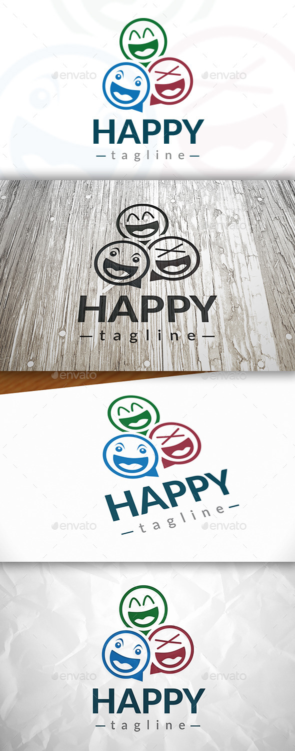 GraphicRiver Happy Logo 9054623