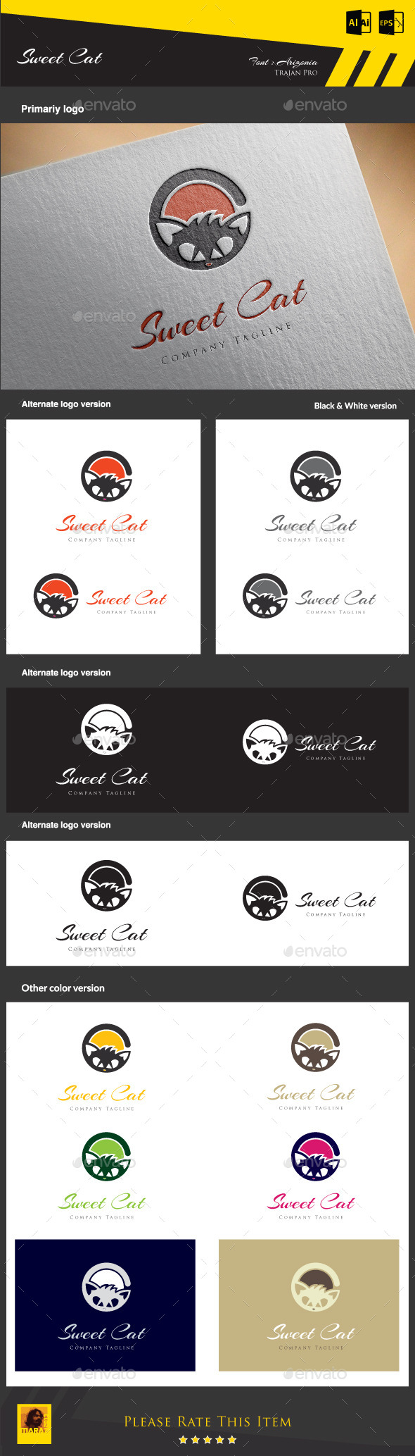 GraphicRiver Sweet Cat 8942948