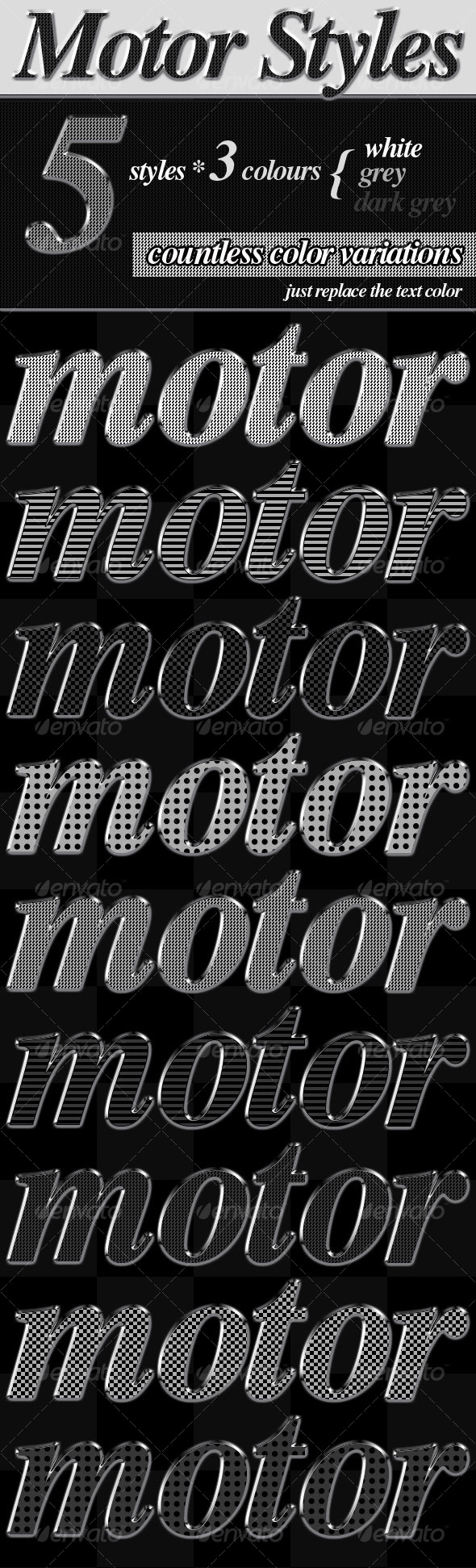 Motor Styles - Text Effects Styles