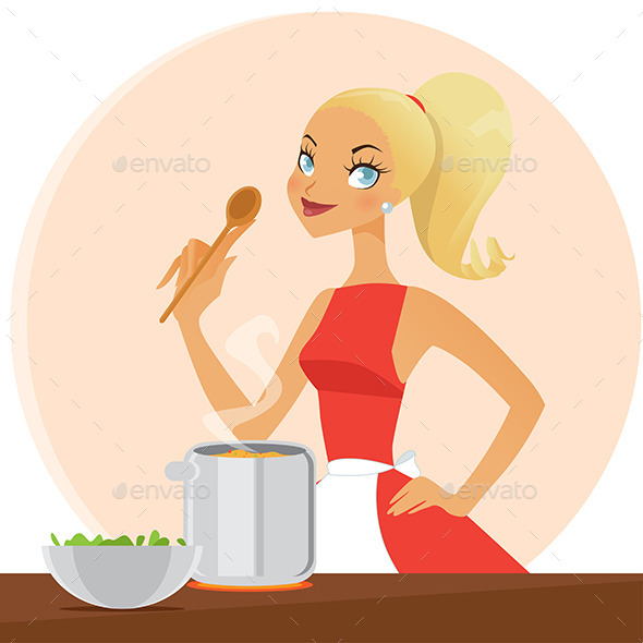 GraphicRiver Woman Cooking 9054923