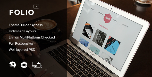 Folio - Responsive Email + Themebuilder Access