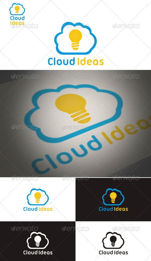 Cloud Ideas - Symbols Logo Templates