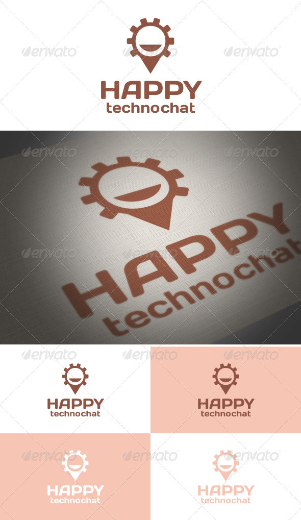 Happy Techno Chat - Symbols Logo Templates
