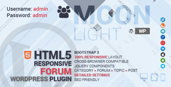 CodeCanyon MoonLight Forum System Wordpress Plugin 8390441