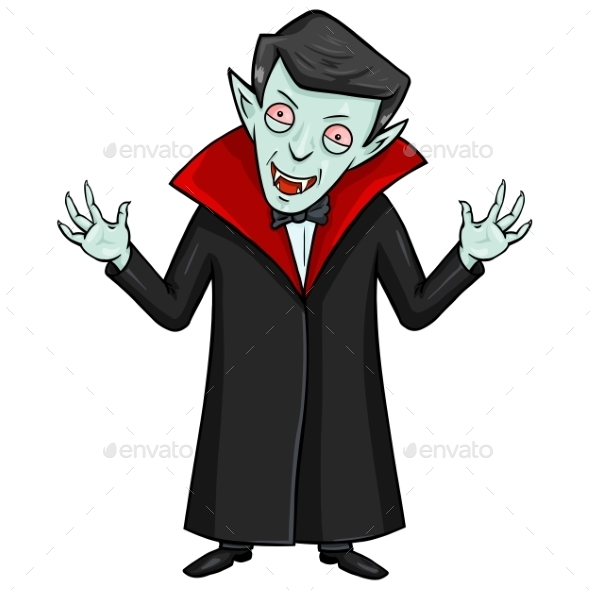 GraphicRiver Halloween Character Evil Attacking Vampire 9055178