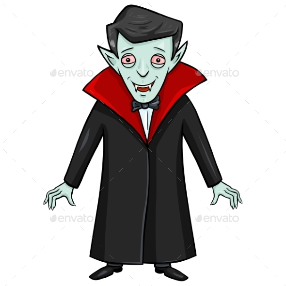 GraphicRiver Halloween Character Smiling Vampire 9055181