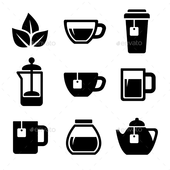 GraphicRiver Tea Icons Set Vector 9055188