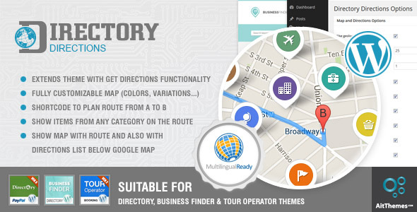 CodeCanyon Get Directions Plugin for Directory WP Themes 9055227