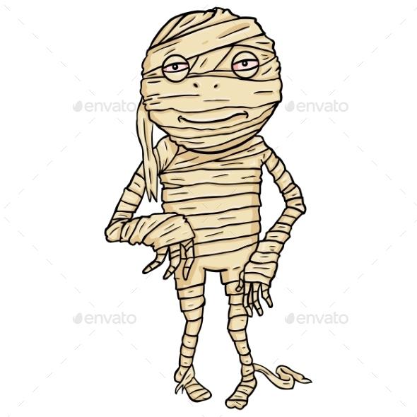 GraphicRiver Cartoon Halloween Character Mummy 9055715