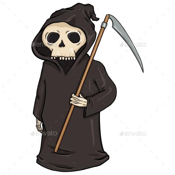 Cartoon Halloween Character - Death