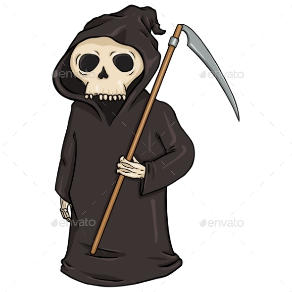 GraphicRiver Cartoon Halloween Character Death 9055761