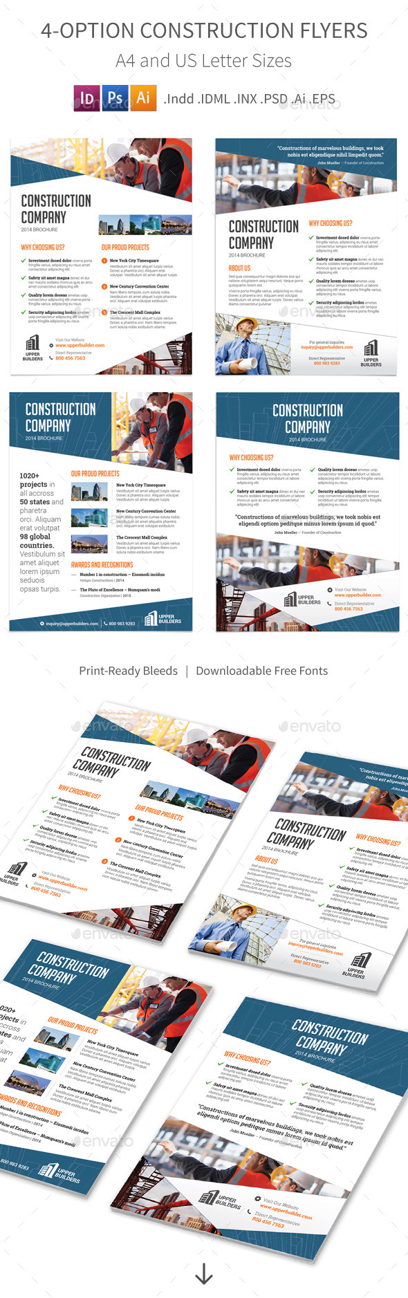 GraphicRiver Construction Company Flyers 4 Options 9056220