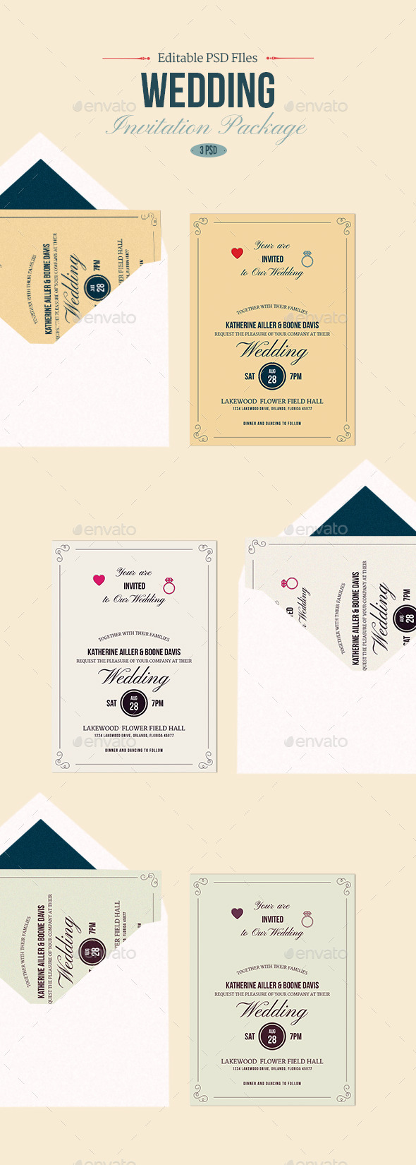 GraphicRiver Wedding Invitation 9056444