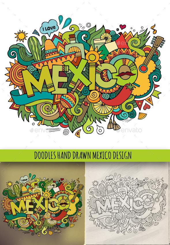 GraphicRiver 3 Mexico Doodles 9056525