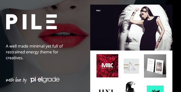 PILE An Uncoventional WordPress Portfolio Theme