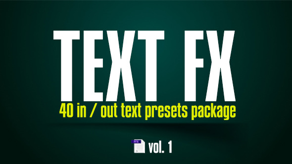 Text FX Presets Vol 1
