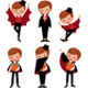 Set of Halloween Vampires in Various Poses - GraphicRiver Item for Sale